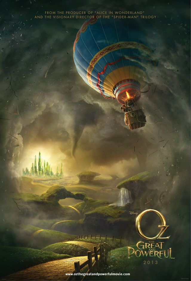 Oz The Great and Powerful, Disney's Prequel to The Wizard of Oz. Seeing as the Wizard of Oz is my all time favorite movie, I can't wait for this!