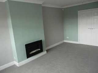 The color grey carpet I want in the back three bedrooms..