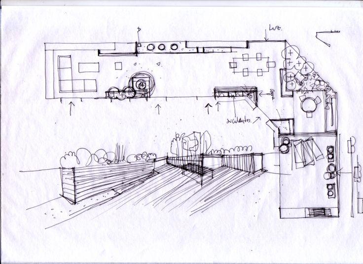Dise ando un nuevo jardin para terraza en atico for Croquis jardin