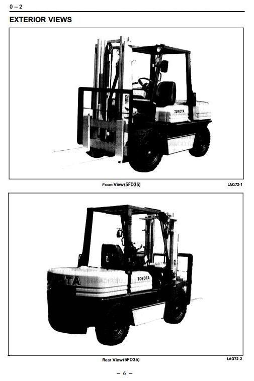 Original Illustrated Factory Workshop Service Manual For Toyota Ic. Original Illustrated Factory Workshop Service Manual For Toyota Icengined Forklift Truck Type 5fg 5fdoriginal M. Toyota. Toyota Forklift 42 6fgcu25 Wiring Diagram At Scoala.co