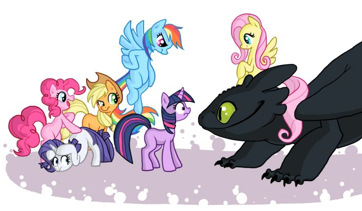 Toothless replaces Spike in My Little Pony friendship is magic