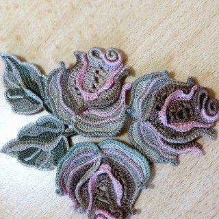 Мастер-класс на мотив «Фоновая роза» из платья «Эдем» от Аси Вертен