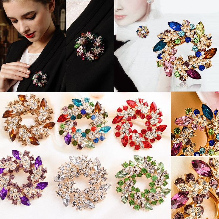 Quantity:1 X Brooch Pin. Material:Rhinestone,Allloy. Pictures:Due to the difference between different monitors, the picture may not reflect the actual color of the item. We maintain high standards of excellence. | eBay!