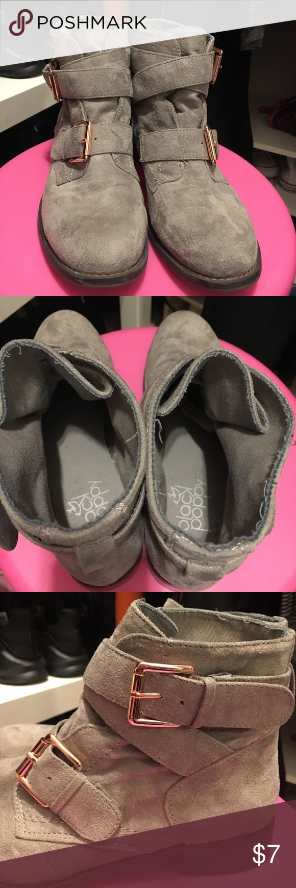 Grey Suede Booties super cute booties! 💕💕 PacSun Shoes Ankle Boots & Booties