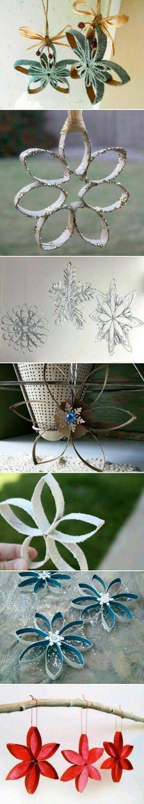 No tires a la basura ningún tubo de cartón de los que vienen en el papel higiénico, podrás crear hermosos ornamentos o adornos perfectos pa...
