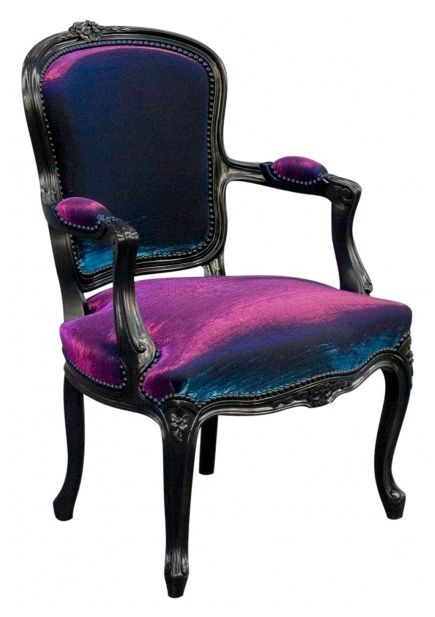 purple crushed velvet chairs. I so want these with an old world dining room table.