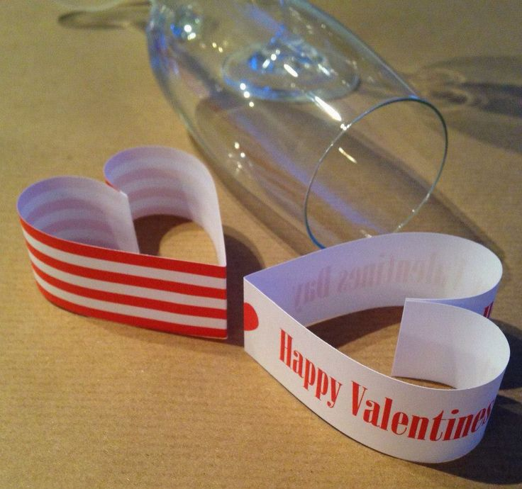 Heart Glass Toppers - made using paper chains