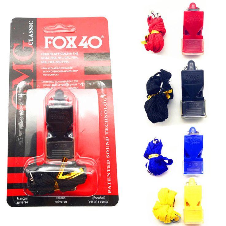 Edcgear fox40 صافرة البلاستيك الثعلب 40 كرة الهوكي البيسبول الرياضة كرة السلة الحكم صافرة بقاء في الهواء