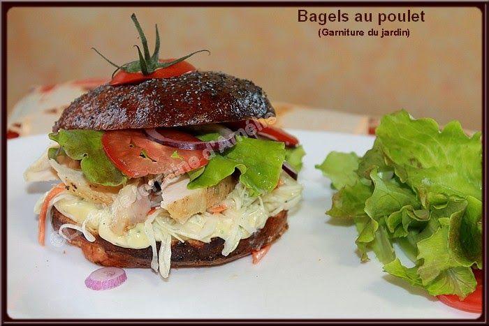 LA TABLE LORRAINE D'AMELIE: Bagels au poulet (garniture du jardin)