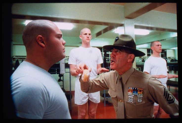 "Vincent D'Onofrio, R. Lee Ermey and Matthew Modine in ""Full Metal Jacket"" (1987)"