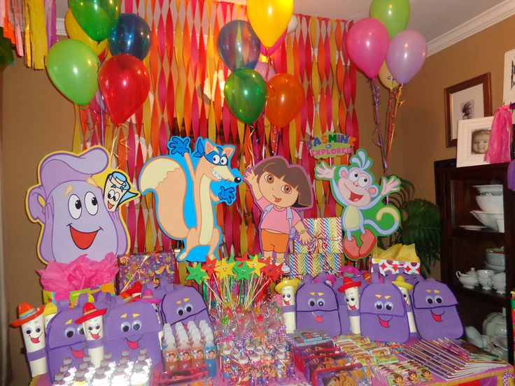 party dora Nathy on Pinterest | Fiestas, Dora The Explorer and ...