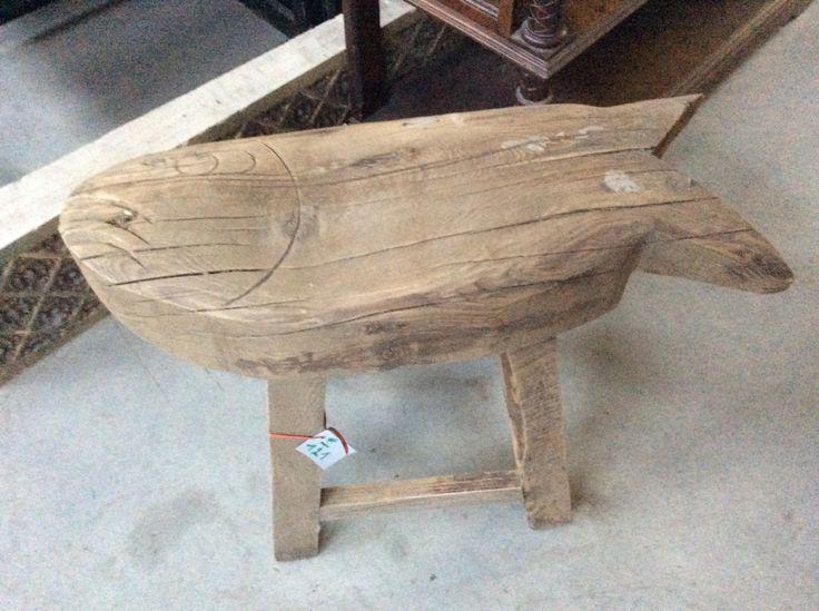 Mooi houten zitbankje (vis): te koop bij medussa Heist op den berg