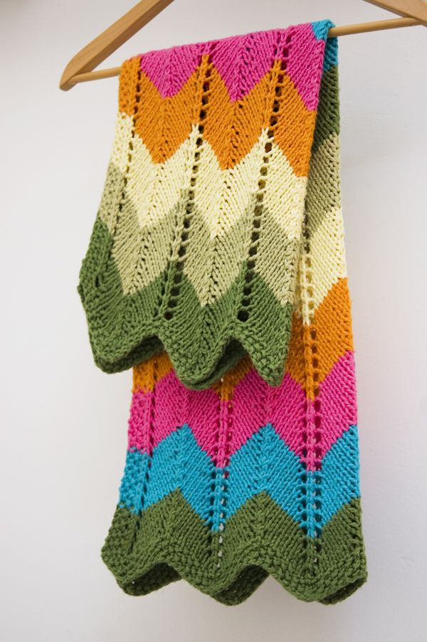 Easy Zig Zag Knitting Pattern : Zig zag baby blanket by knit culture studio free knitted