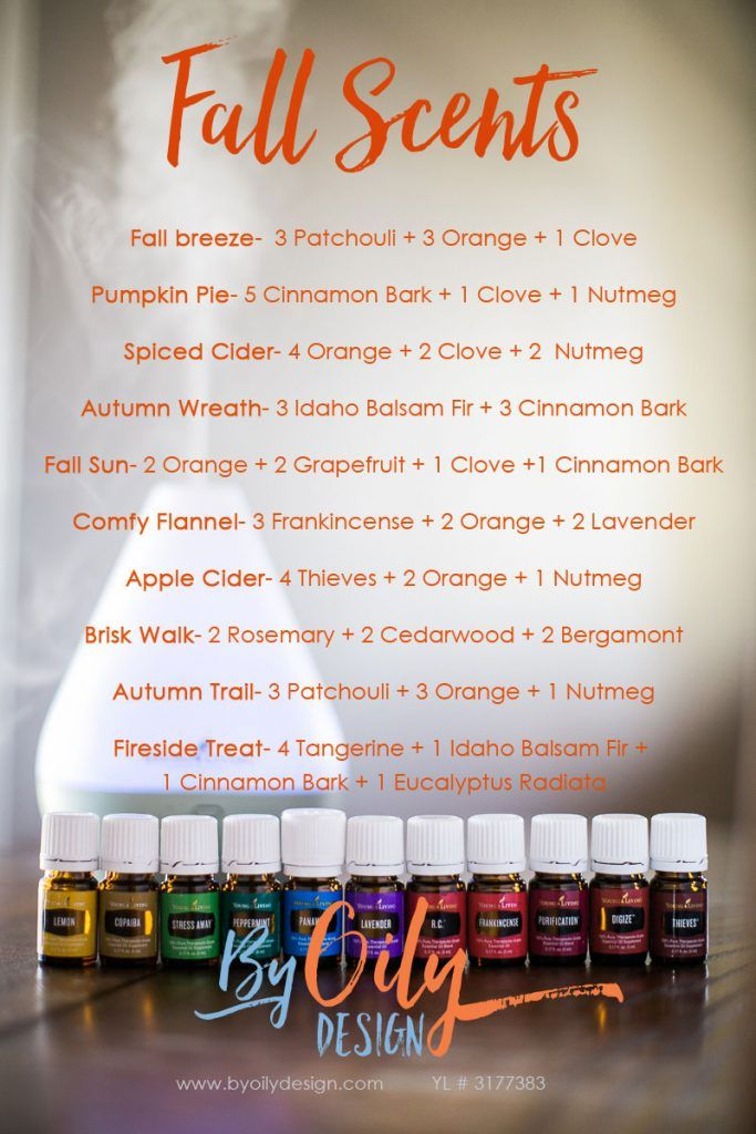 How to use Essential oils to create an amazing fall scent recipes for your  home.