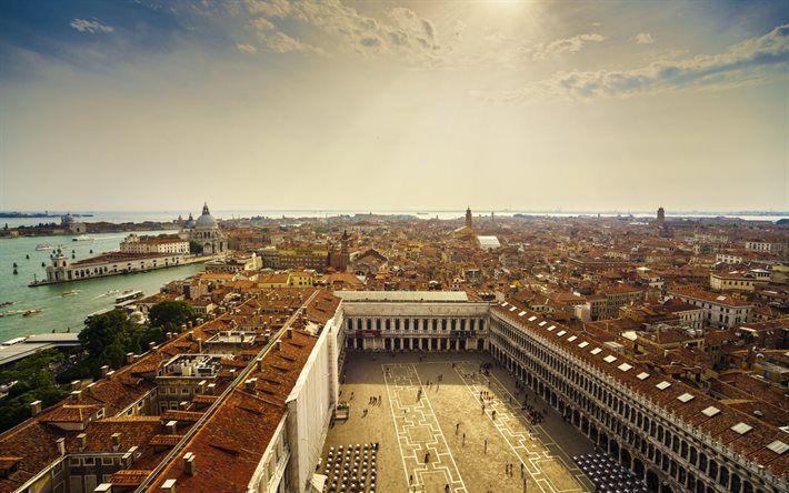 Lataa kuva Venetsia, Kesällä, kaupungin panorama, vanha kaupunki, Italia
