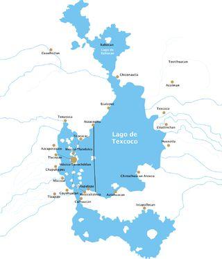 Lago de Texcoco-posclásico - Lago de Texcoco - Wikipedia, la enciclopedia libre