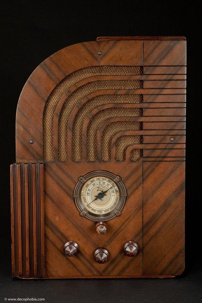 zenith model 811 art deco tombstone radio radios pinterest. Black Bedroom Furniture Sets. Home Design Ideas