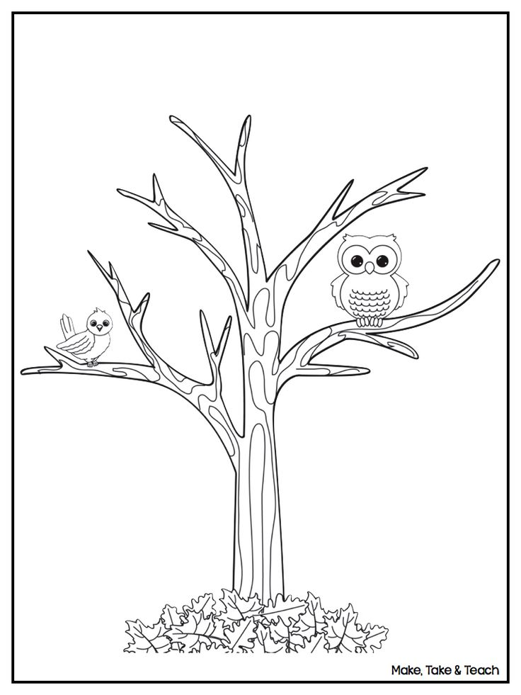 free downloadable coloring page perfect for fall - Tree Leaves Coloring Page