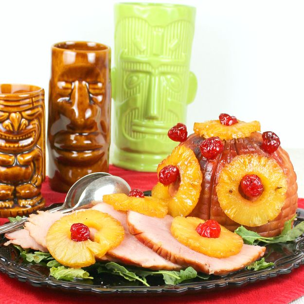American-style Brown-Sugar-Glazed Holiday Ham Recipe — Dishmaps