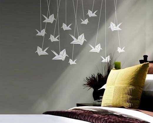 japanese wall decor bedroom ry pinterest origami. Black Bedroom Furniture Sets. Home Design Ideas