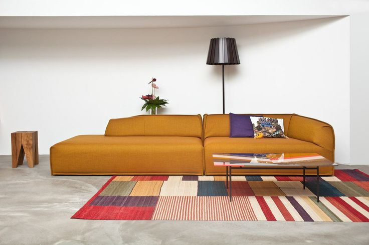 Medina rug by nanimarquina with Massas sofa at Claude Cartier Decoration.