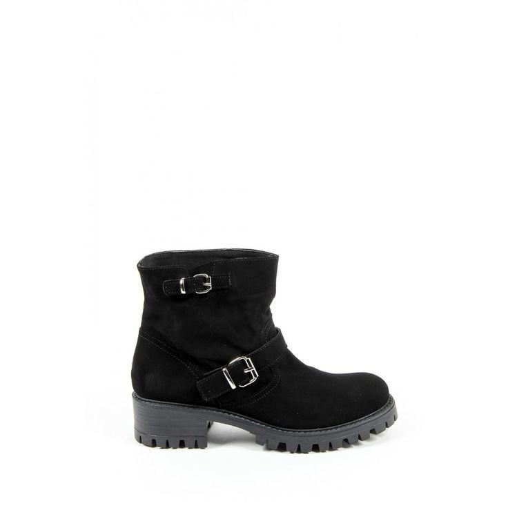 Black 39 IT - 9 US Versace 19.69 Abbigliamento Sportivo Srl Milano Italia Womens Short Boot B1441 CAMOSCIO NERO