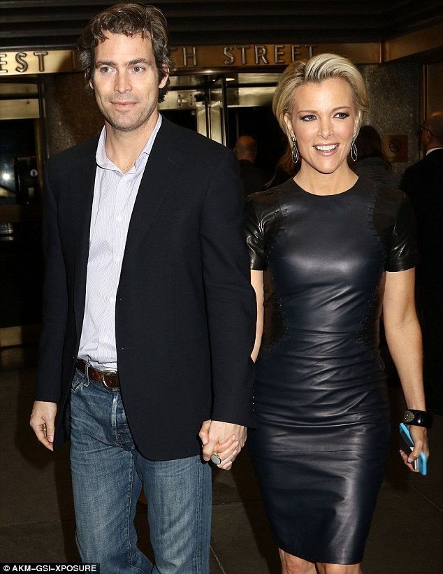 Big news:Fox News host Megyn Kelly (above with husband Douglas Brunt on Thursday) is set to release her first book this Fall