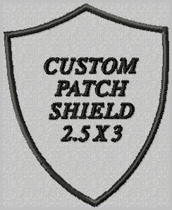 OML Patches - Custom Patch Shield, $8.50 (http://www.omlpatches.com/custom-patch-shield/)