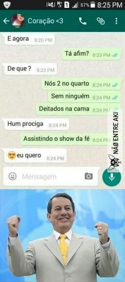 É HORA DE VER XXXXXXXXXXOU DA FÉ!!