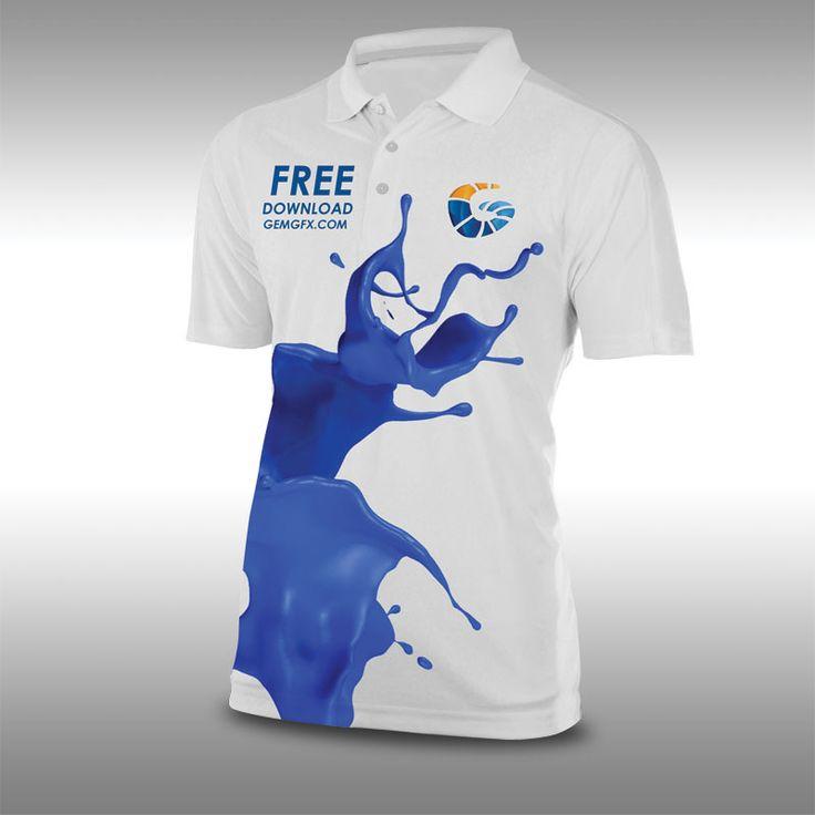 Truck and uniform mockup free stuff pinterest mockup for Free polo shirt mockup psd