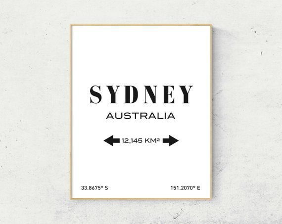 Sydney Print, Sydney Australia, Sydney Poster, Sydney Wall Art ...