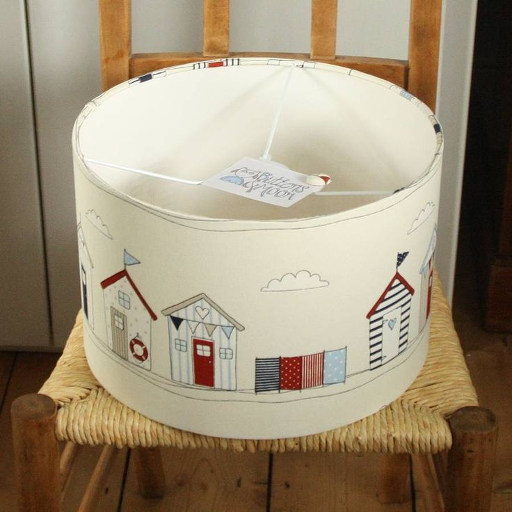 beach huts personalised lampshade by buttons & moon | notonthehighstreet.com