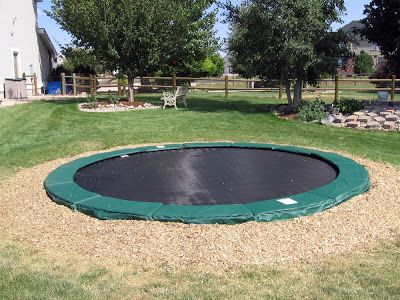 A cheaper option would be a round inground trampoline.