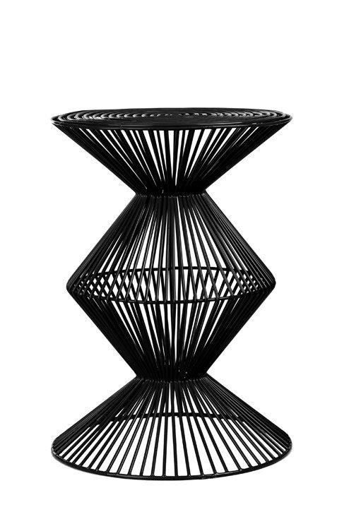 hocker komdo coauf zack der retro look des wire stool zig zag black besticht durch seine. Black Bedroom Furniture Sets. Home Design Ideas