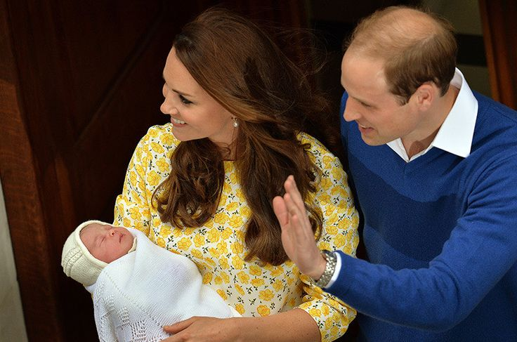 The world meets it's newest Princess  Just hours after giving birth, Prince William and Kate emerged from St Mary's Hospital to show off their little bundle of joy.   Kate stunned in a yellow frock by Jenny Packham, but it was the little - at the time unnamed - Princess, who stole hearts with those same chubby cheeks as her big brother George, sleeping soundly and oblivious to the impact she has already had on the world.