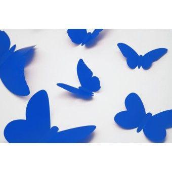 3D Kék pillangók csomag : 3D matricák - KaticaMatrica.hu - A minőségi falmatrica és faltetoválás webáruház