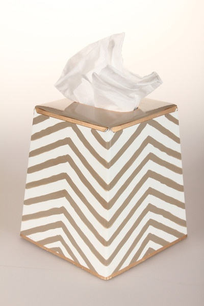 kenya taupe tissue box cover