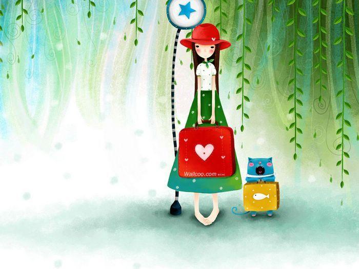 Dream of Echi - Echi Illustrations (Vol.01)  - Dreamy Girl - Beautiful Echi Illustration Wallpaper  2