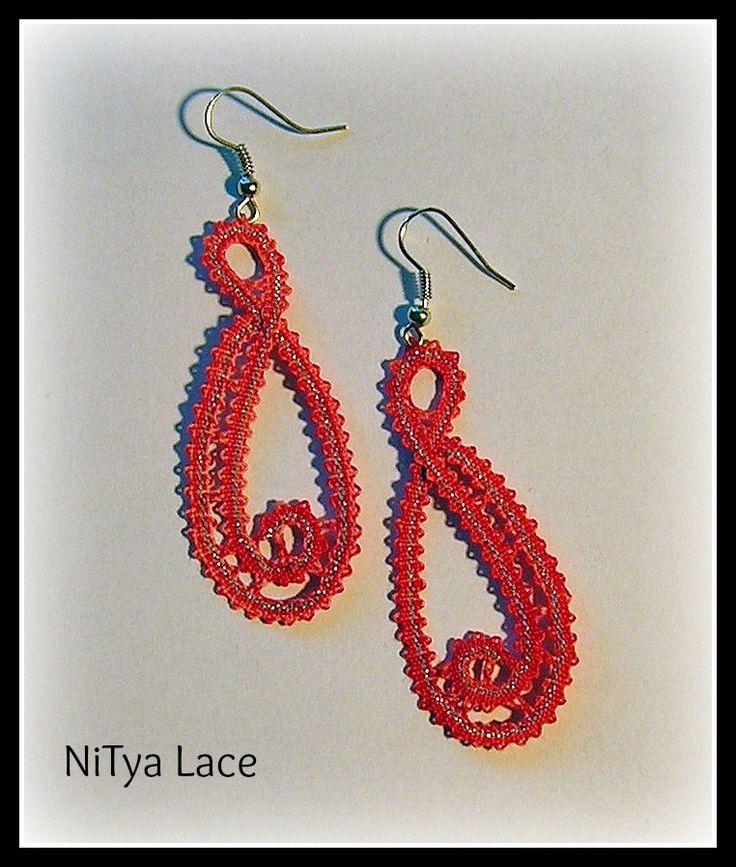 Bobbin lace earrings - Idria lace