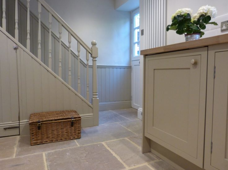 Kitchen cabinetry painted in Little Greene Portland Stone