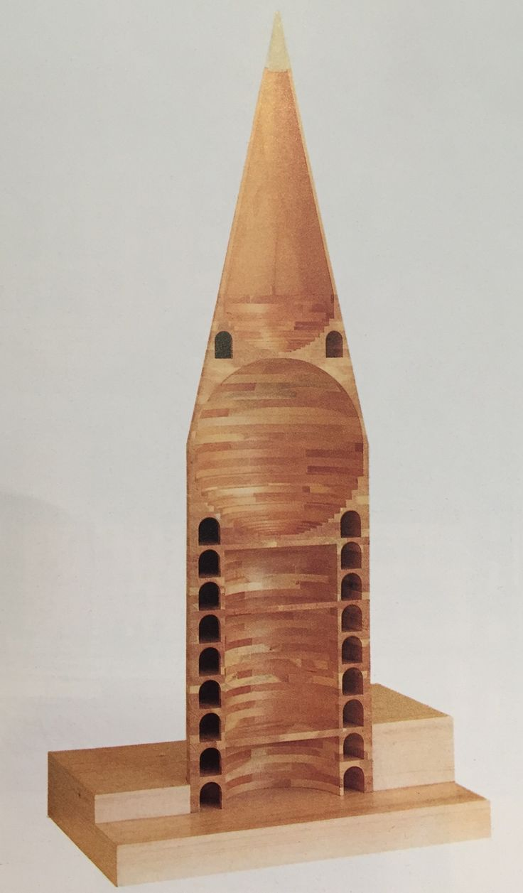 The Triumph of Postmodernism — Model of the tower from Aldo Rossi's design for a...