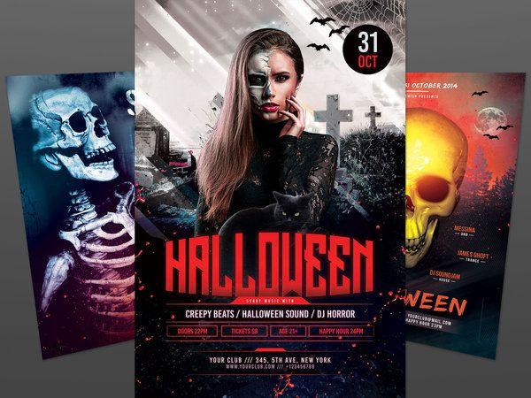 13 best Halloween Flyer Design images on Pinterest Flyer - ufc flyer template