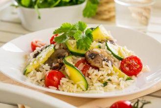 Теплый салат из овощей с рисом Индика Gold