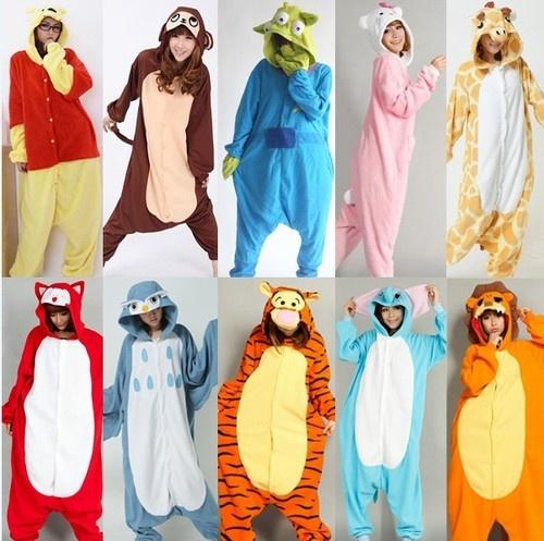 New Unisex Kigurumi Cosplay Costumes Pajamas Animal Onesie Sleepwear S/M/L/XL
