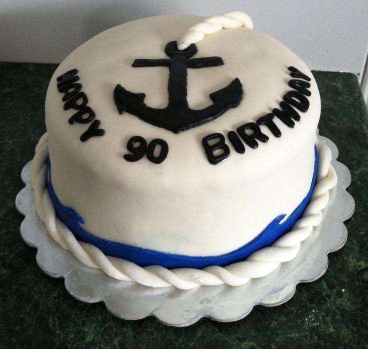 Navy Birthday Cake Designs