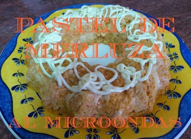 Pastel de merluza en el microondas
