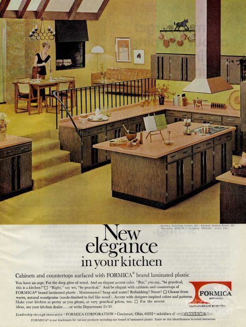 Retro Renovation chose their 2014 Color of the Year to be Harvest Gold! See it here featured in this vintage Formica advertisement