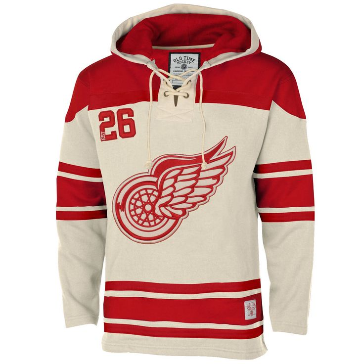 Men's Detroit Red Wings Old Time Hockey Stone Home Lace ...