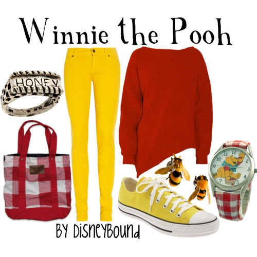 Classic Winnie the Pooh!  No explanation needed, including bee earrings for his honey-love!