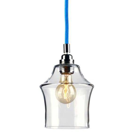 LAMPA wisząca LONGIS II 10136109 Kaspa szklana OPRAWA ZWIS IP20 przezroczysty